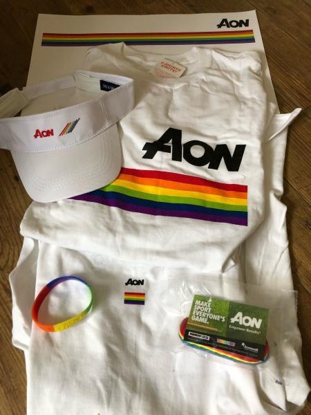 Aon Pride branded items