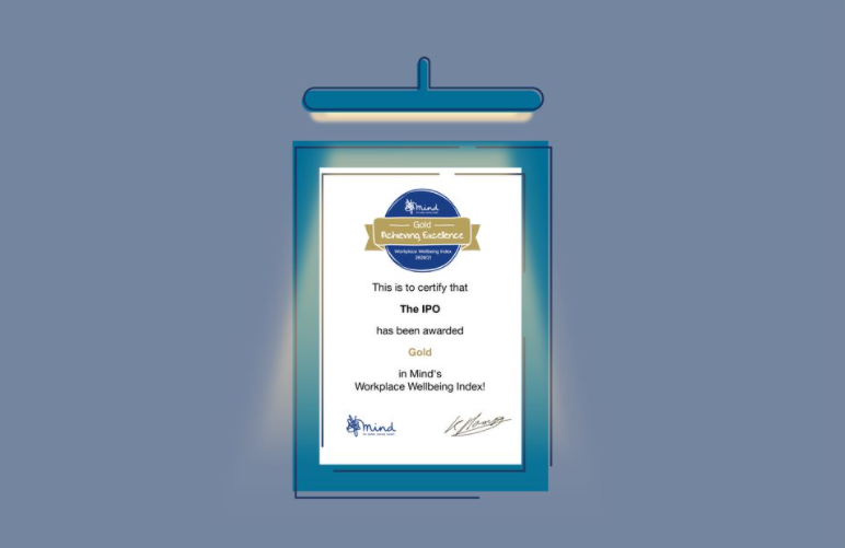 Gold - Mind Workplace Wellbeing Index 2020/21 certificate