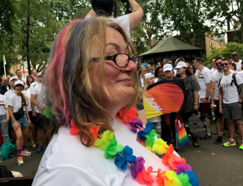 Kate at Pride 2019 with Aon