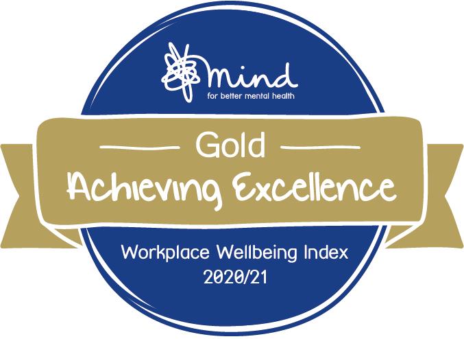 Gold - Mind Workplace Wellbeing Index 2020/21