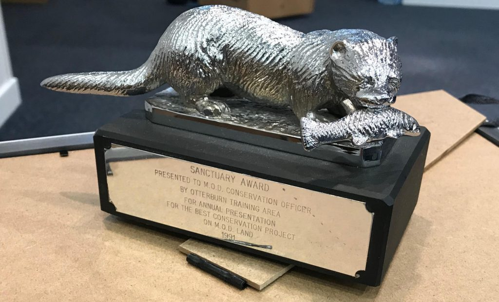 The Silver Otter Trophy is awarded to the Conservation Group or volunteer project that is deemed most impressive by the judges