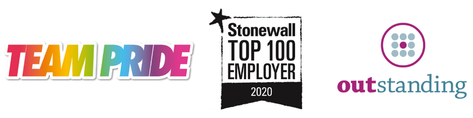 Team Pride, Stonewall 2020, Outstanding, Human Rights Best Place to work 2020