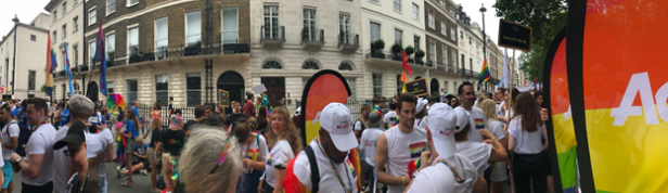 Aon participating in Pride march 2019