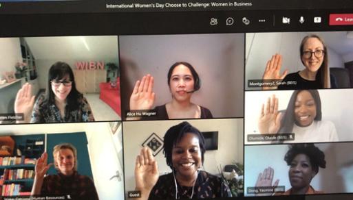 Women empowered network meeting on International Women's Day 2021