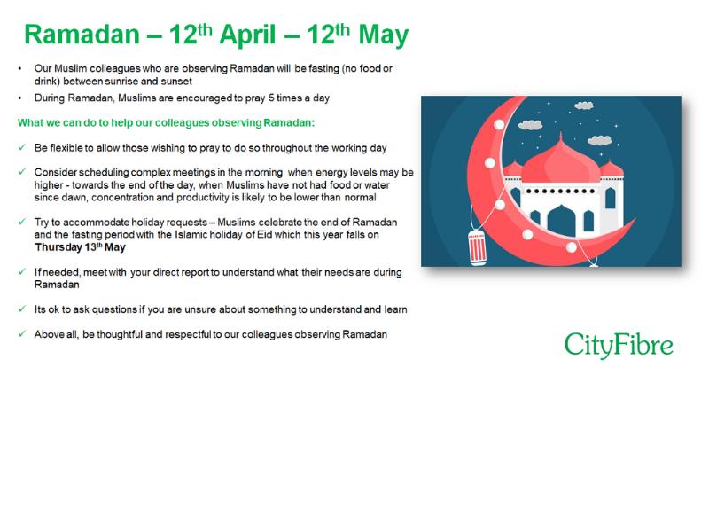 CityFibre - Ramadan