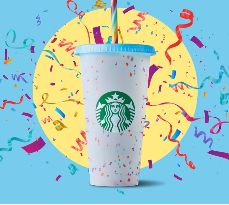 colour-changing Confetti cup.
