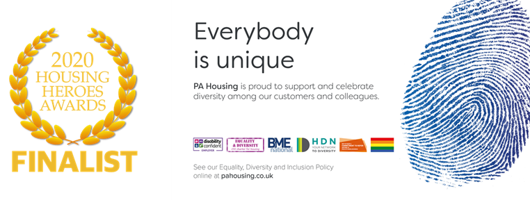 At PA Housing, we believe that Everybody is unique and we're committed to promoting diversity, inclusion, and a culture that actively values difference