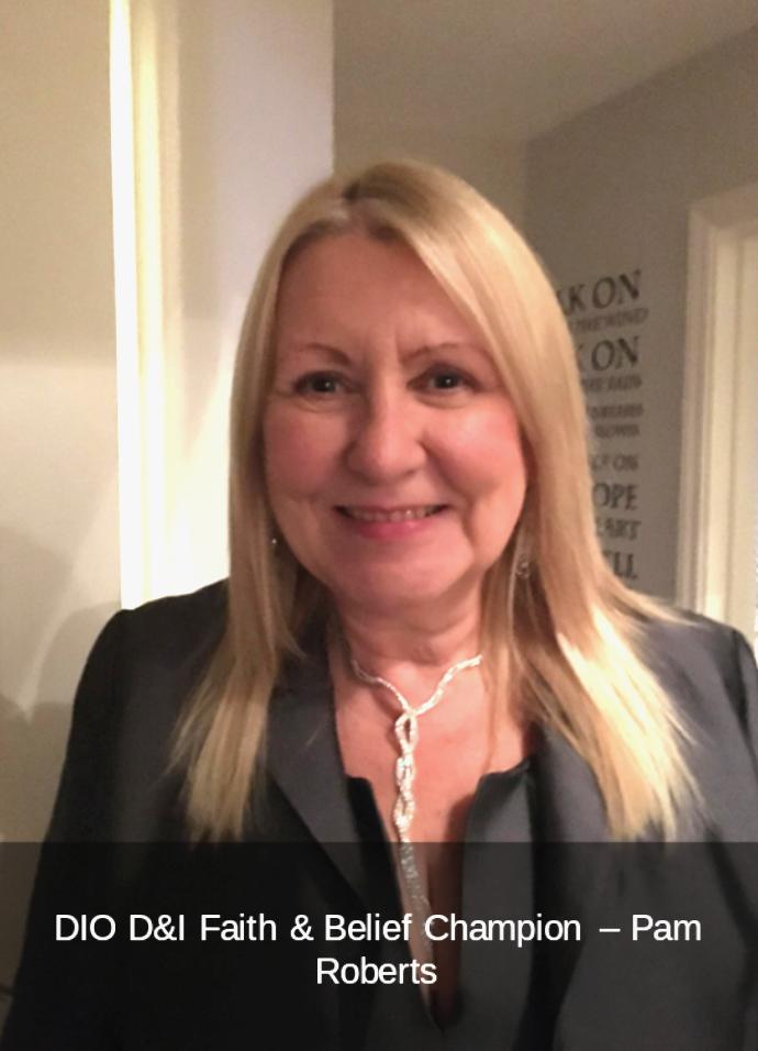 DIO Faith & Belief Champion Pam Roberts