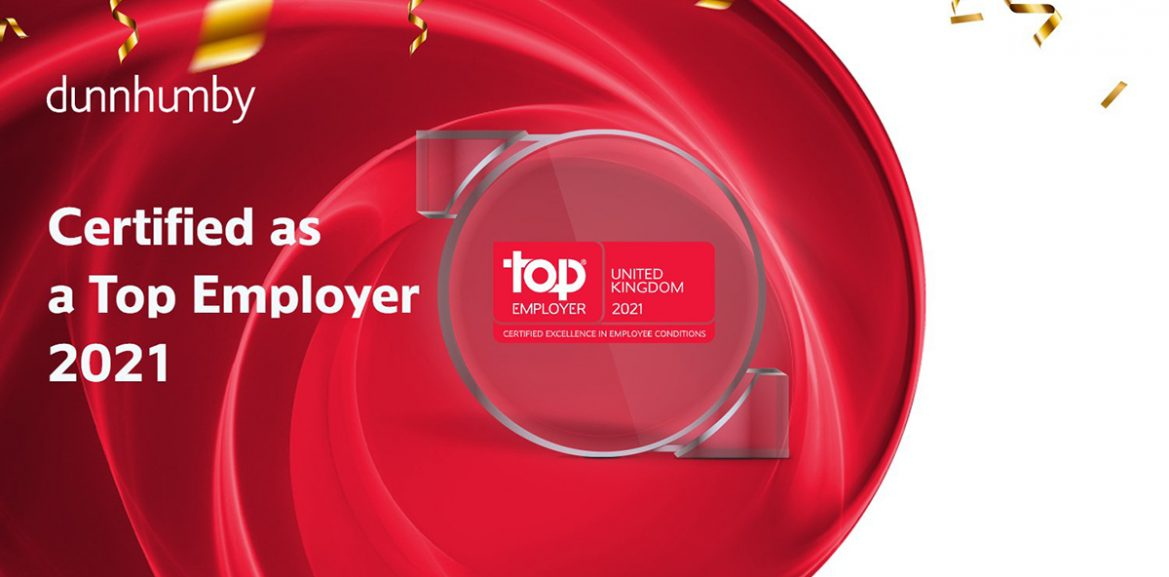 dunnhumby certified as Top Employer 2021