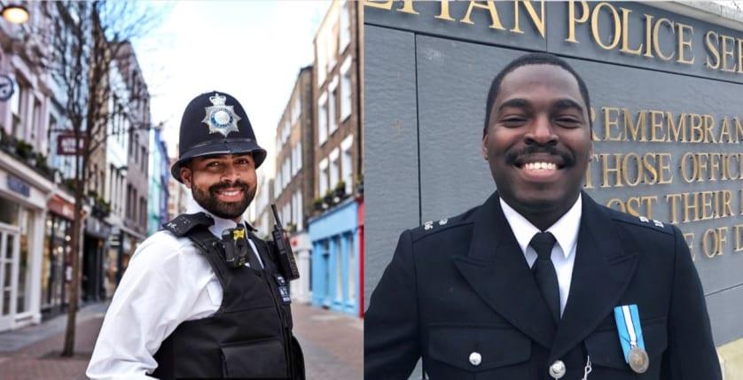 PS Richard Gayle and PC Bilal Sani-Mohammed