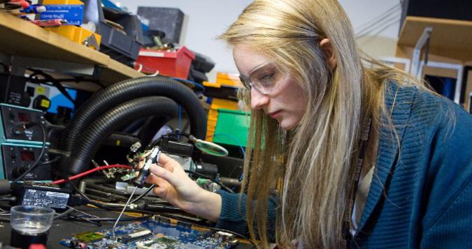 Technology apprentice white female
