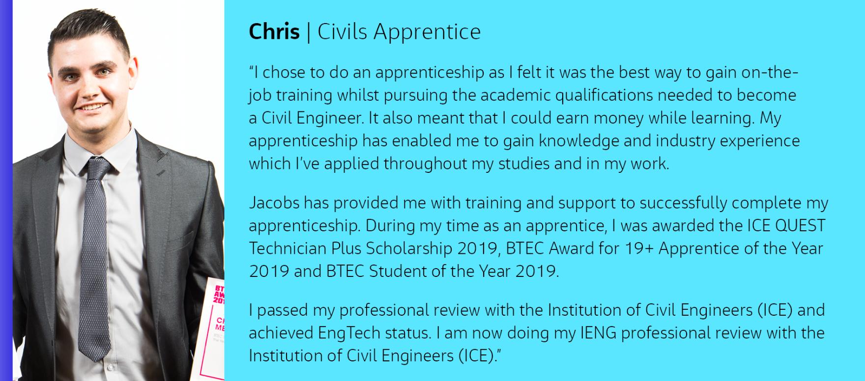 Chris Apprenticeship Profile