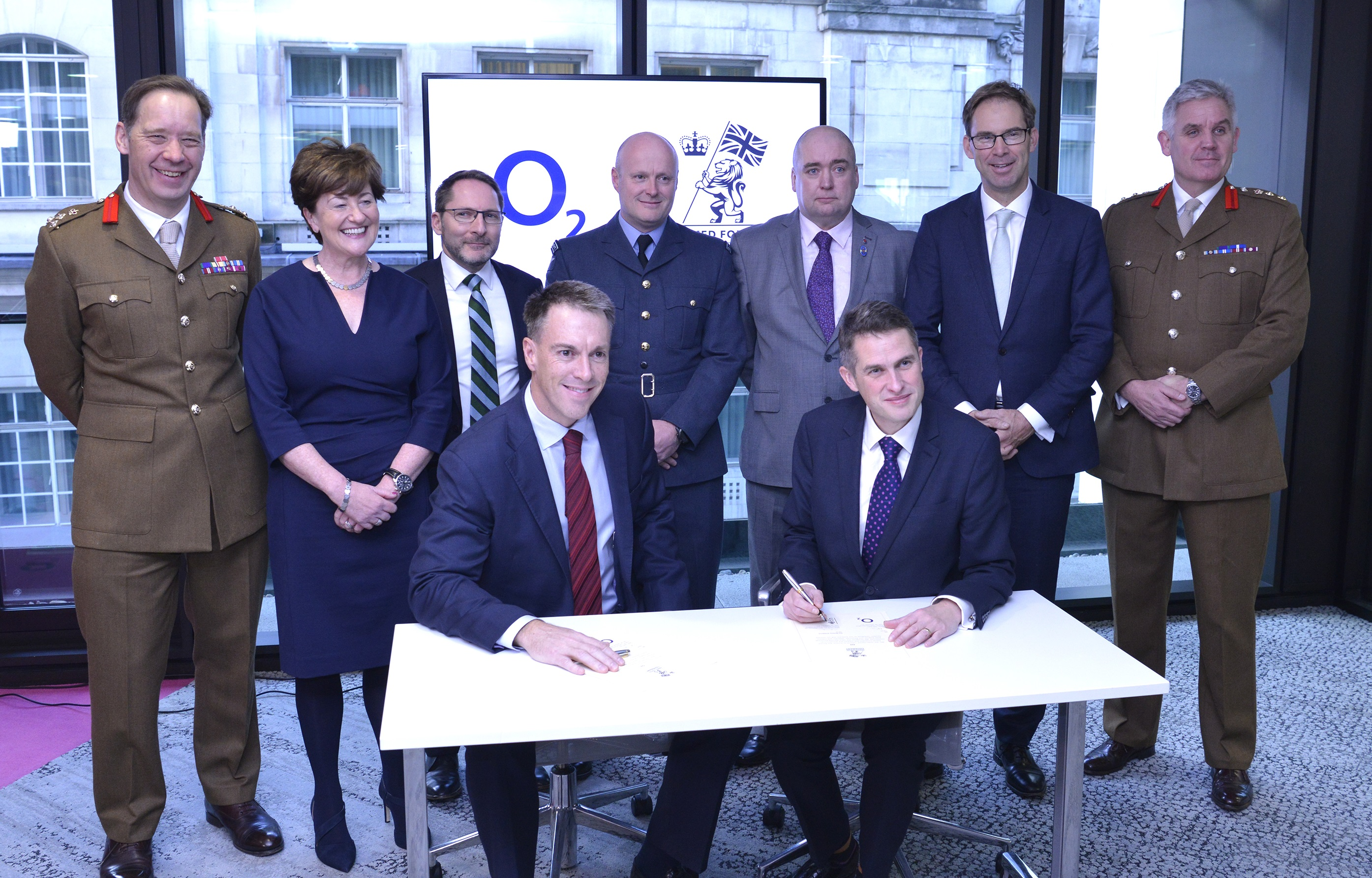 Image of O2 signing the Armed Forces Covenant