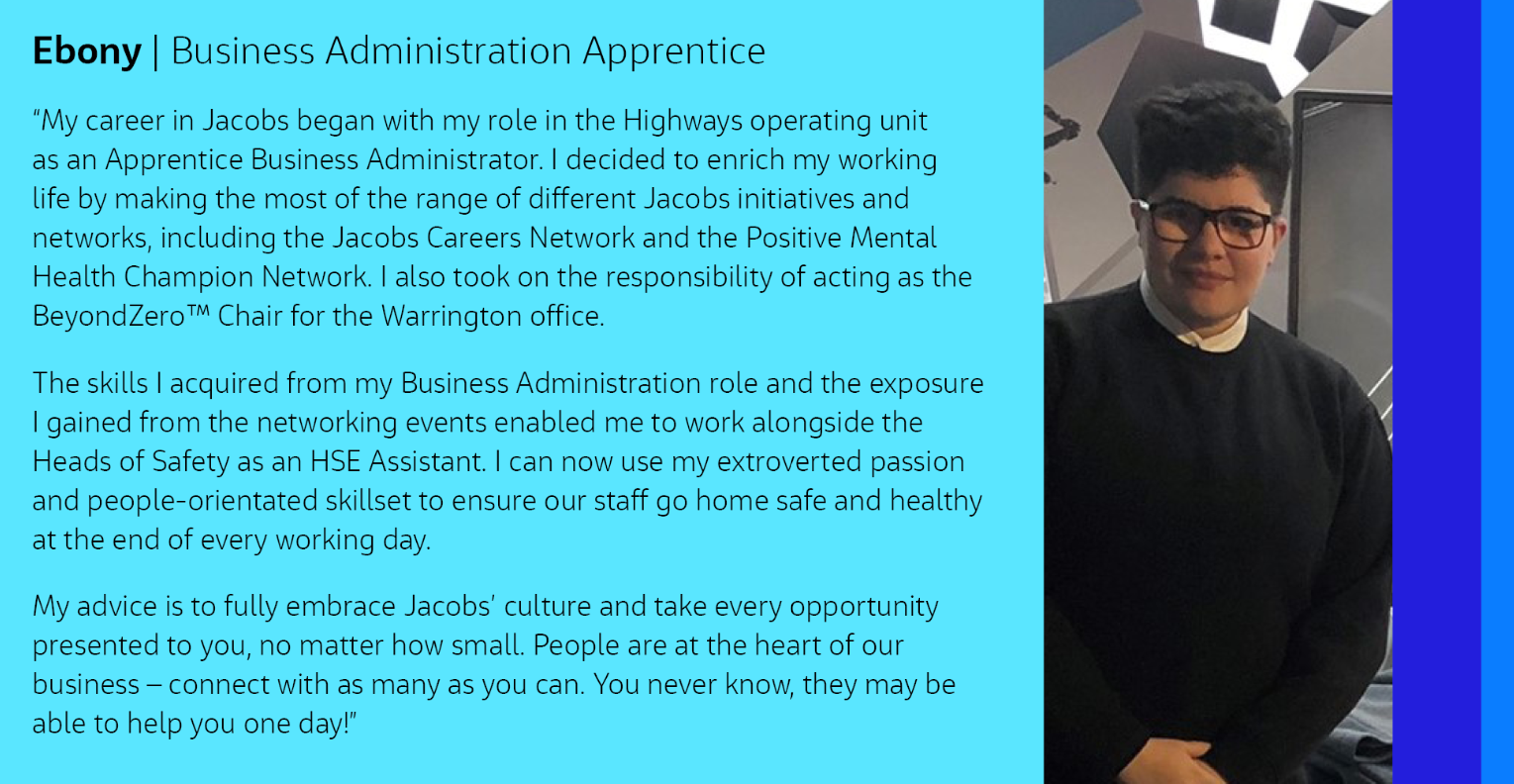 Ebony Apprenticeship Profile