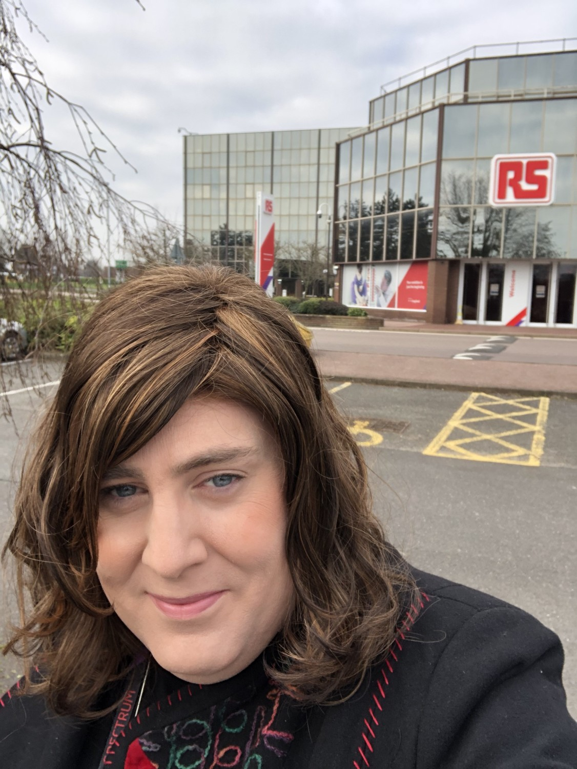 Emily outside the RS office