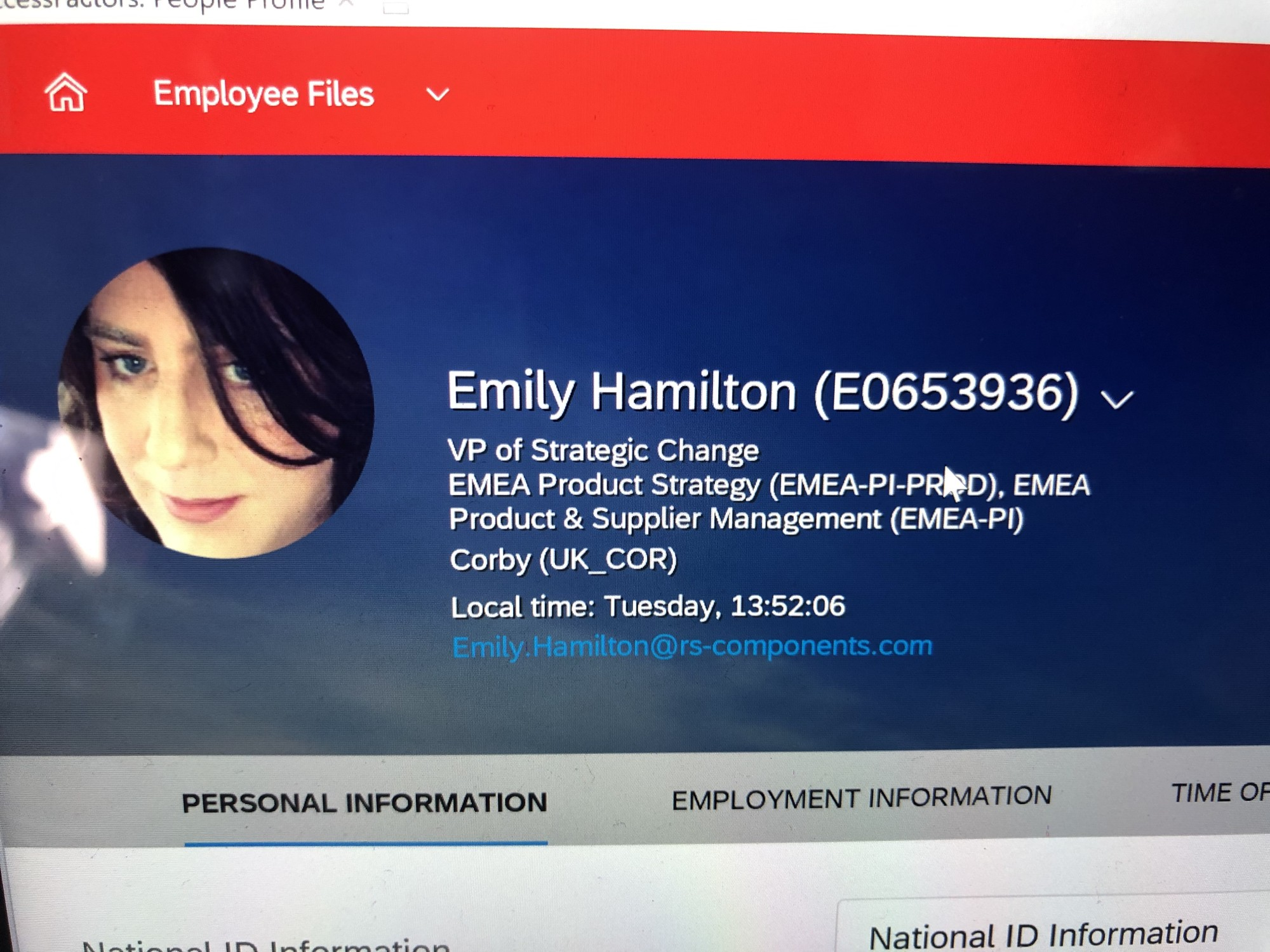 Emily's first work signature