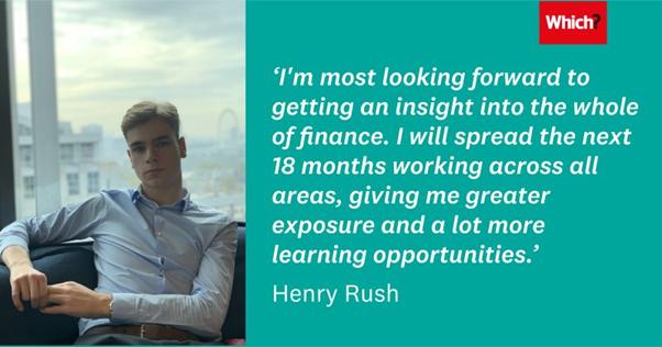 Henry Rush, Finance Apprentice