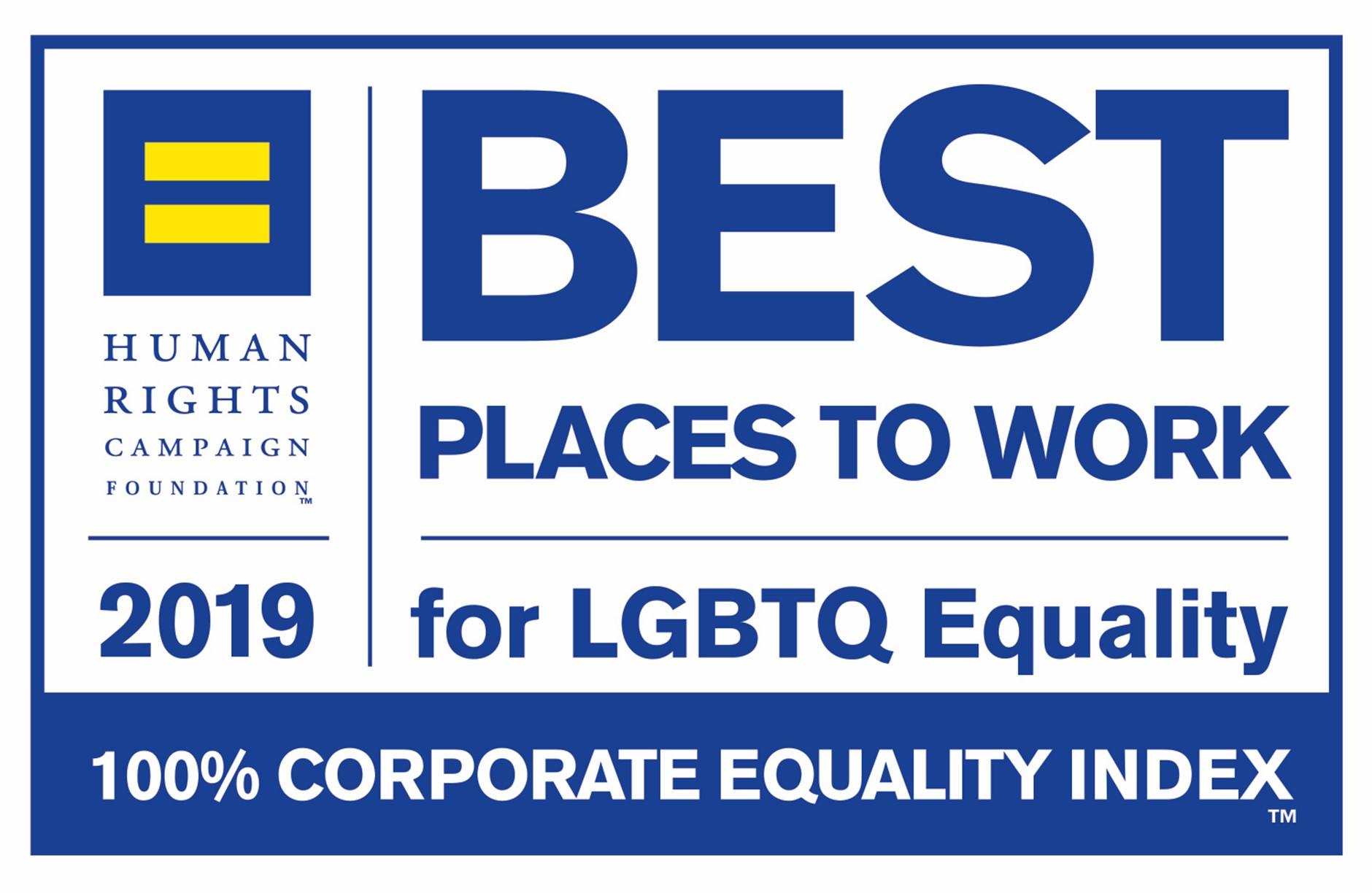 Best Place to work LGBTI Award