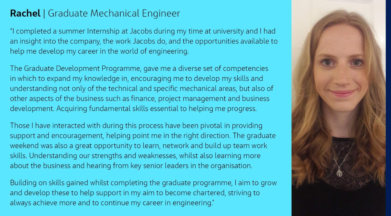 Rachel Graduate Profile