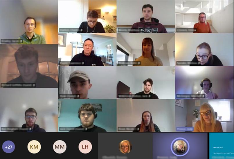 Team video call