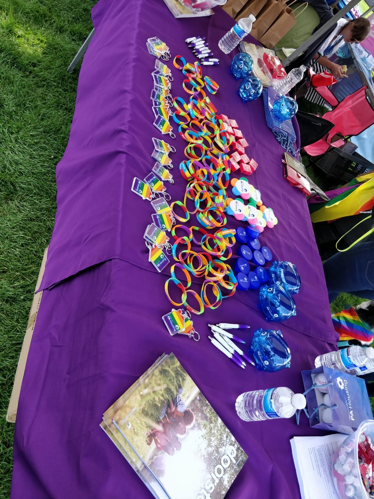 The PA Housing stall at Leicester Pride 2019.