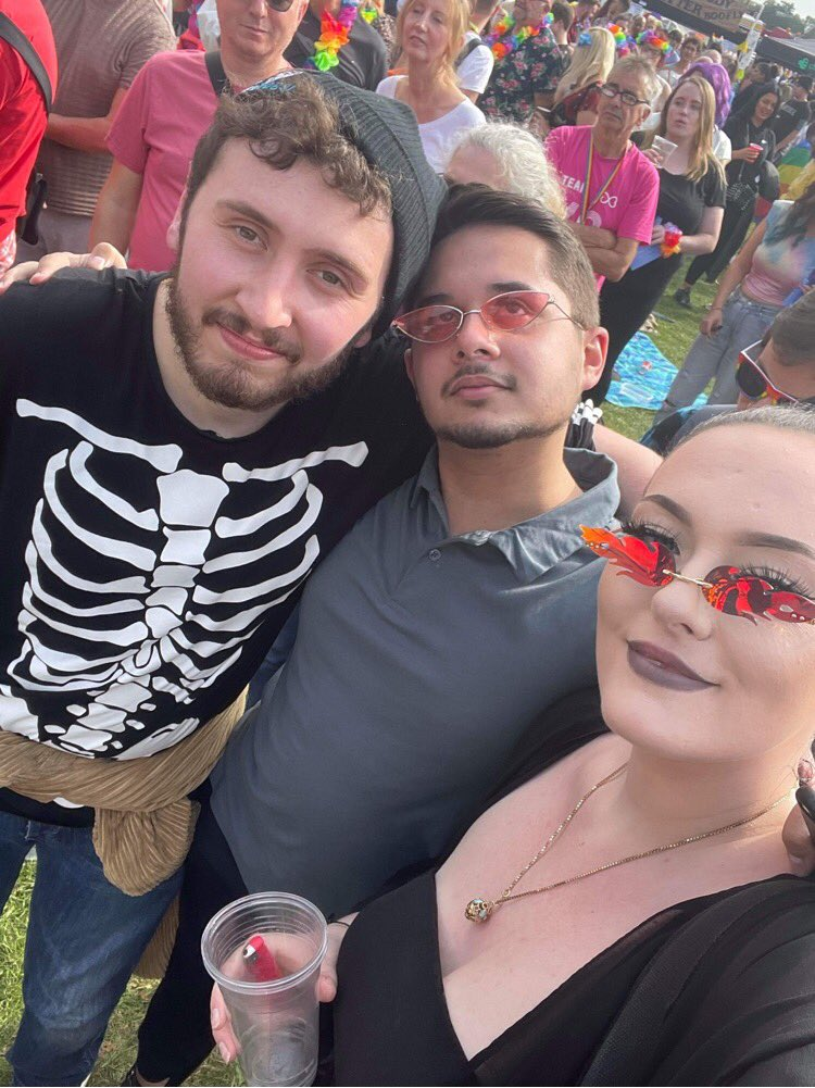 My pals and me (left) appreciating the positive vibes.