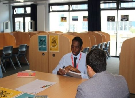 Image of an apprentice running a mock interview