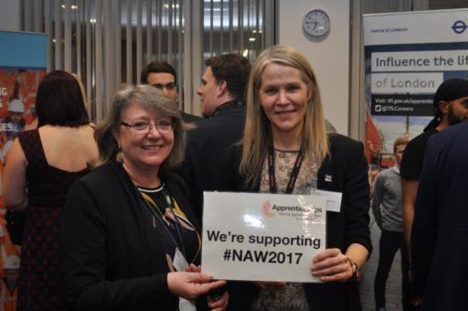 Image of Rachael Etebar, DfT Group HR Director And Linda Muzikants, Crossrail