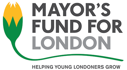 Mayor's Fund for London 'helping young londoners grow logo'