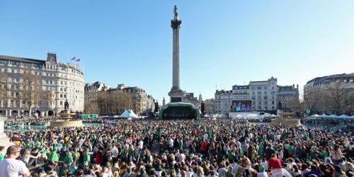 Image of St Patricks Day On Trafalgar Square