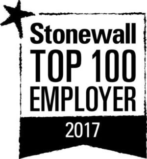 Image of Stonewall Top 100 Employer 2017