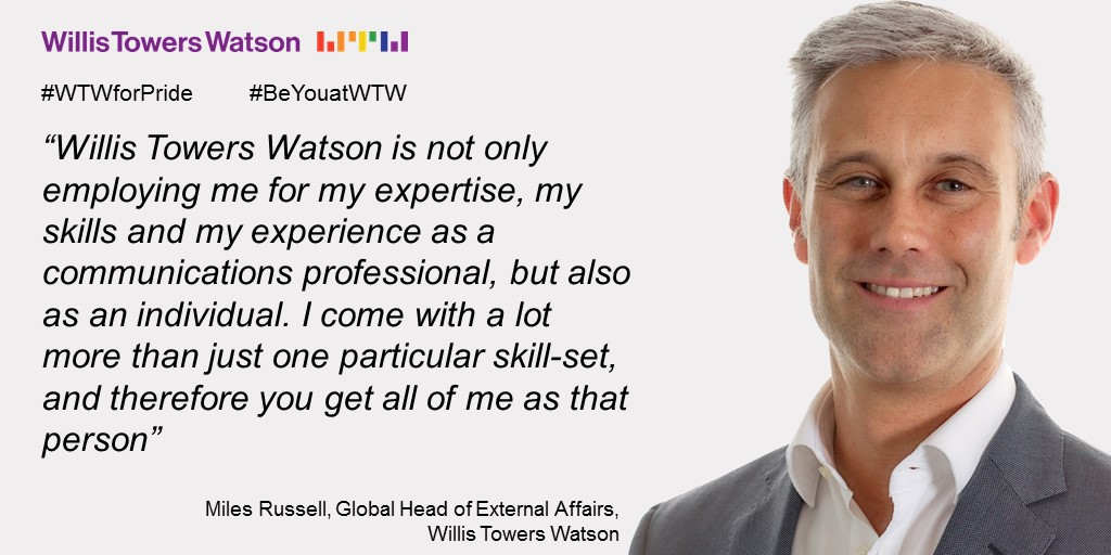 Willis Towers Watson- #WTWforPride #BeYouatWTW -