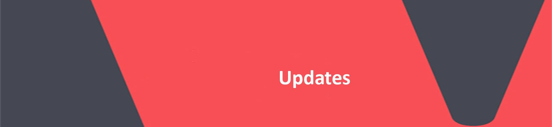The title 'Updates' on the red VERCIDA background.
