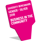 Diversity Benchmark Gender  -Silver 2018, Business in the Community logo.