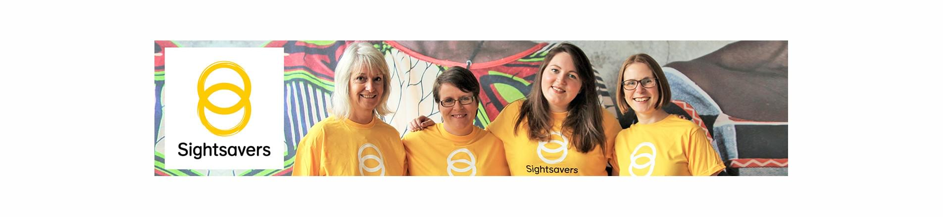Four female Sightsaver employees