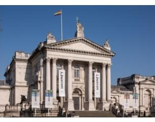 Image of Tate Britain with Rainbow Flag.