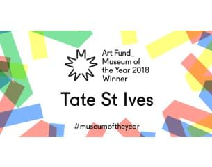 Image Graphic. Tate St Ives Winner Art Fund Museum of the Year 2018