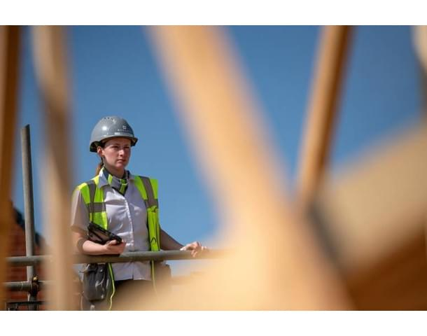 Female at the construction site