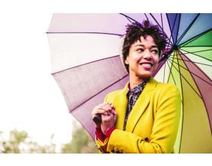 Female with an umbrella