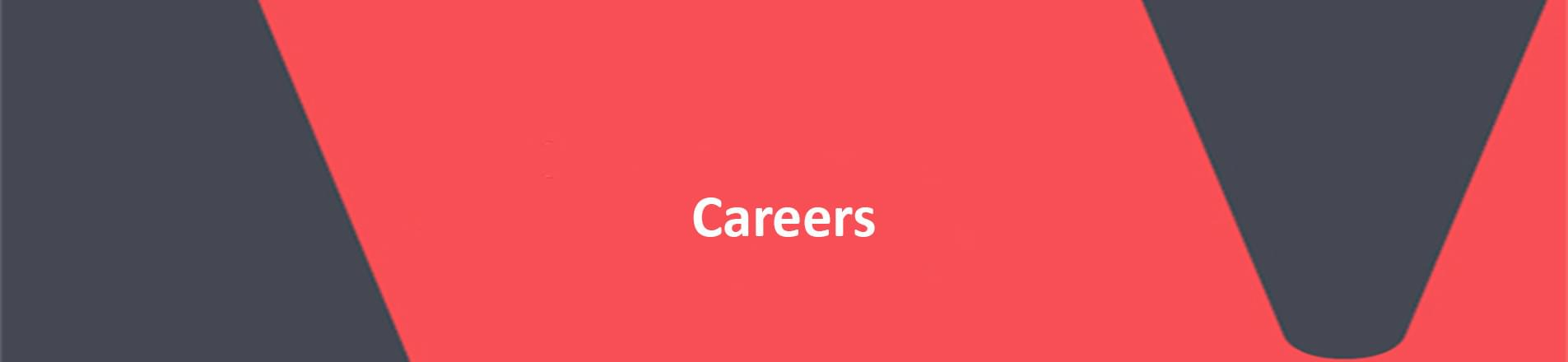 The word careers on red VERCIDA  branded background