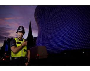 West Midlands Police Officer outside bullring.