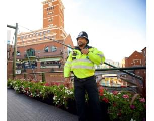 West Midland's policeman of colour on patrol