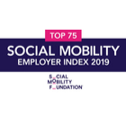 Top 75 Social Mobility Employer Index 2019.