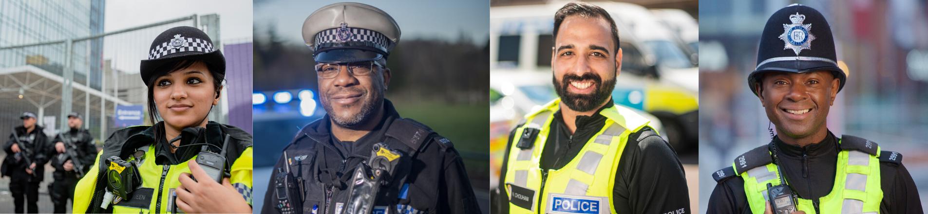 Image bank of diverse  West Midlands Police officers.