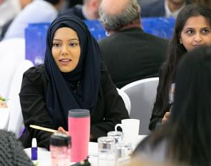 Muslim females  at staff workshop.