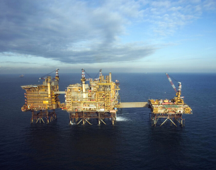 Morcambe Bay central drilling platform.