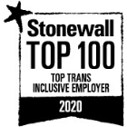 Stonewall Top 100 Top Trans Inclusive Employer logo.
