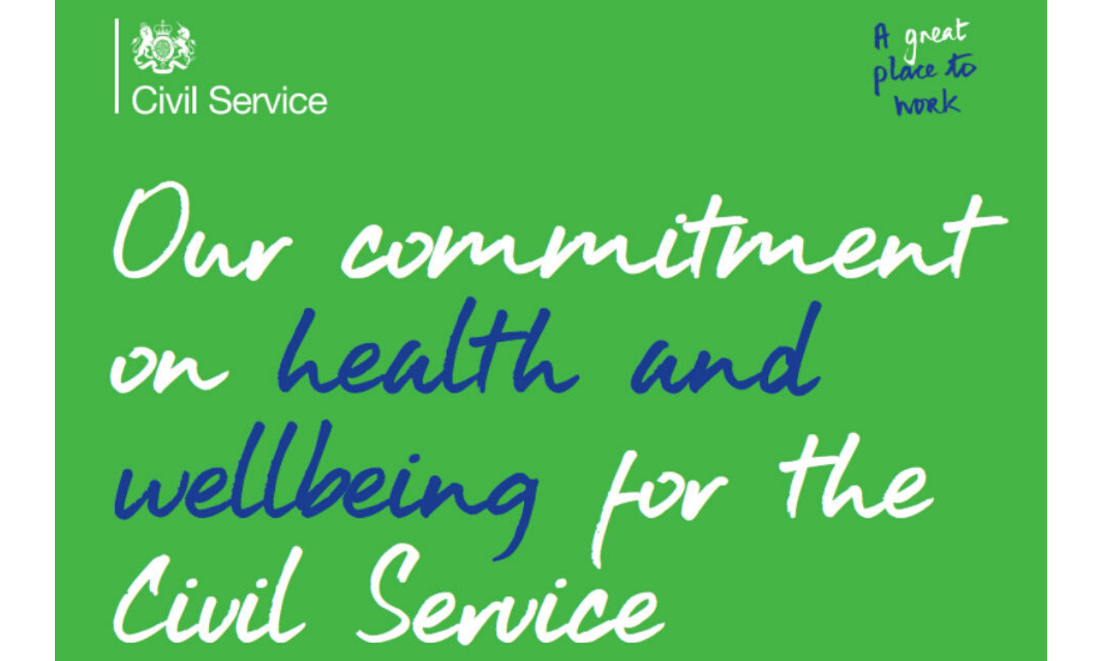 Civil Service wellbeing promise.