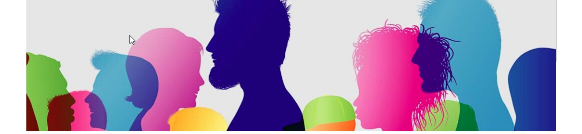 Diverse heads silhouettes