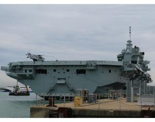 Queen Elizabeth-class aircraft carrier.